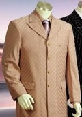 Button Fashion Pinstripe Vested