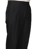SKU#KL3886 55% Dacron Polyester Navy Somerset Pleated Trouser $99