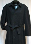 SKU#Coat-06 New Charcoal Gray Vitorri Angel mens Full length 4 button Hidden Button wool blend top c