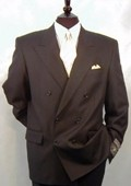 SKU# 237 Double Breasted Men's Suit, 100% Wool Super 120's, Peak Lapel Style Ultra Fashion