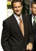 SKU# WCE911 $1295 SLK9 Brown With Smooth Pinstripe 2 Buttons Mens Dress %100 Wool Suits $139
