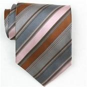Silk Pink/Grey/Brown Woven