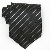 Black /Metallic Woven Necktie