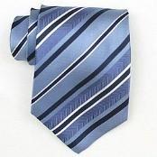 LtBlue/Navy/White Woven Necktie $39
