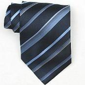 Navy/LtBlue/Gold Woven Necktie $39