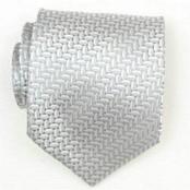 Silver Woven Necktie $39