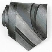 Silk Grey/Black Woven Necktie