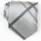 Silk Grey/DGrey Woven Necktie