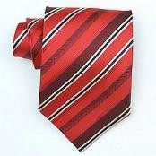 Silk Red/Burgundy/black/cream woven necktie