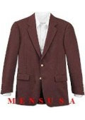Men's Burgundy ~ Maroon ~ Wine Color/Maroon Single Breasted Three Button Suit Jacket Dinner Blazer $79