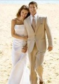 Linen wedding suits