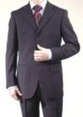 SKU# BMU3 Boys Solid Black Blue Suits 3 Buttons Wool Blend Suit $79