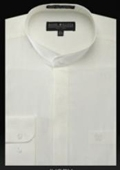 Banded Collar Shirt Ivory