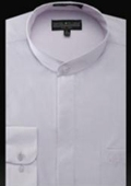 Banded Collar Shirt Lilac