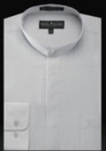 Mens Banded Collar Shirts