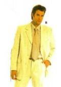 SKU# CKJ511 Beautiful Mens 3/4 Button Banana~Yellow Fashion Dress With Nice Cut Smooth Soft Fabric $115