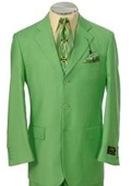 Beautiful Mens lime mint Green ~ Apple ~ Neon Bright Green 3 Button Dress With Nice Cut Smooth Soft $165