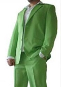 SKU#TNP797 Beautiful Mens Apple Bright Green <> 3 Button Dress With Nice Cut Smooth Soft $175
