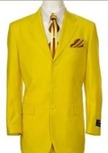 SKU# TNP717 Beautiful Mens Bright Yellow Fashion Dress With Nice Cut Smooth Soft Fabric $139