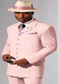 Mens Pink 4-5 Button