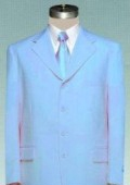 #MUC7 Beautiful Mens Sky Blue Pastel Dress With Nice Cut Smooth Soft Fabric $99