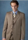Beige~Tan Vested 3 Piece