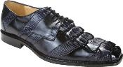 Fabrizio - Navy Crocodile/Lizard/Calf