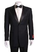 Black 2 Button Wool Tuxedo 1 Pleated Pants $199