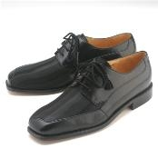 Black Four eyelet blucher