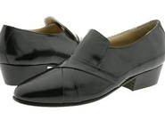 Black Hand-pleated vamp slipon