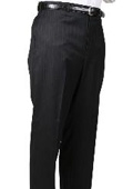SKU#BS2947 Black Stripe Bond Flat Front Trouser $99