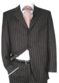 Super 120's Wool Chalk Pinstripe
