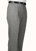 SKU#VZ1074 Black/White Check Parker Pleated Pants Lined Trousers $99
