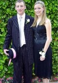 SKU#TTLB2 Black With Bright Pink or black & Lavender Stripe Zoot Suit