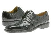 Black classic oxfords croco