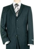 SKU# 3BNBP  Navy Blue Pinstripe 3 Button Super 150's Wool Men's Suit $139