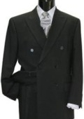 SKU# DB-W1 Brand New Solid Black Double Breasted Suit $189