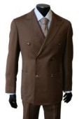 SKU# TO-89 Brown Super Wool Double Breasted $189