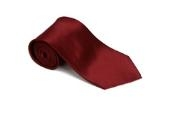 Burgundy ~ Maroon ~ Wine Color 100% Silk Solid Necktie With Handkerchief $29