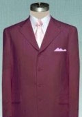 Solid Burgundy ~ Maroon ~ Wine Color non-Vented Jacket + Pleated Pants $79