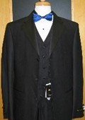 SKU#BV535 3 Button 3 Piece Flat Front Tuxedo $199