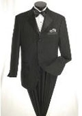 SKU#JD9879 3 Button Tuxedo with Black on Black Stripe $115