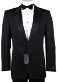 1or2 Button Peak Lapel 100% Wool Designer Side Vented Tuxedo Suit $299