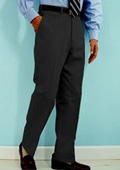 SKU#SJ311 PA-100 Charcoal premeier quality italian fabric Flat Front Mens Wool Dress Pants Hand Made Relax Fit $69