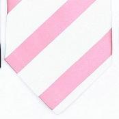 Silk White/Pink Woven Necktie