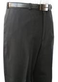 SKU#IMU834 Mantoni~Bertolini Umo Black Flat Front Pant 100% Superfine wool $95
