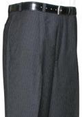 Black Pinstripe CK Single Pleat Pant
