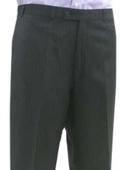 SKU#MSK734 Mantoni~Bertolini Umo Black Shadow Stripe Flat Front Pant $95