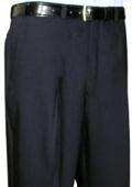 SKU#FJU643 Mantoni~Bertolini Umo Black Flat Front Pant $99