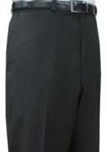 SKU#DSA221 Mantoni~Bertolini Umo Black Pinstripe CK Flat front pant $99